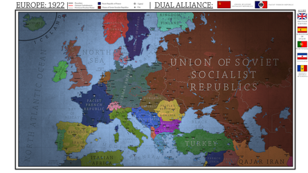 Europe 1922 - Dual Franco-Soviet Alliance. by Breakingerr