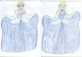 Bubbles as Cinderella (Show's Style, My Style, V2) by TrainsAndCartoons
