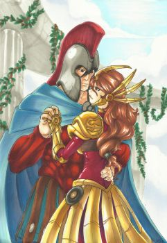 LOL arts: Pantheon and Leona by MAD-project
