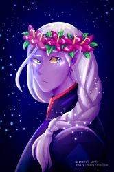 emperor with a flower crown by Space-Marshmallow