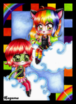 -- Colorful Friends -- by Nay-Hime