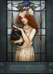 Art Nouveau series 4 - The Debutante by crayonmaniac