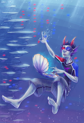 A Seadweller Nerd and his Code Fishes by SybLaTortue