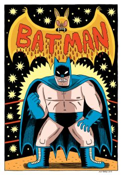 Wrestler Batman by Teagle