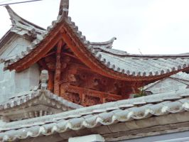 Carved dragon gable by wombat1138