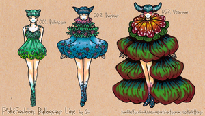 PokeFashion: Bulbasaur Line by thelettergii