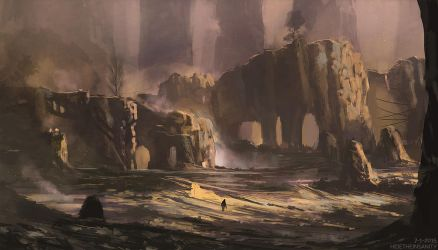 Golden canyon by HideTheInsanity