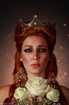 The Witcher - Flower portraits - Anna Henrietta by MilliganVick