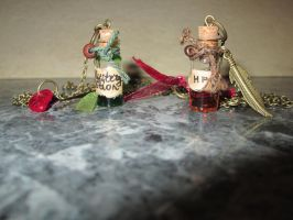bottled potion pendant charms by 95n