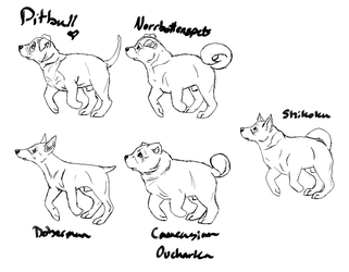 kennel puppy linearts for Ebbingpawprints by MyChesterBaby