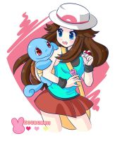 :Pokemon: Blue and Squirtle (Speedpaint) by MeguBunnii