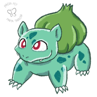 Daily Drawing #1: Bulbasaur by MaeraFey