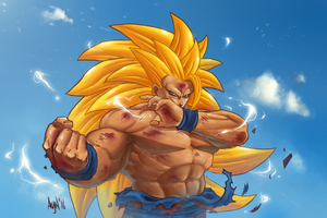 Goku Super Saiyan 3 - Colors by Akujin-b0x