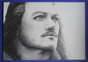 Bard the Bowman - Pencil Drawing by Rennue