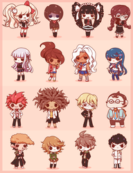Chibi Danganronpa by Koki-arts