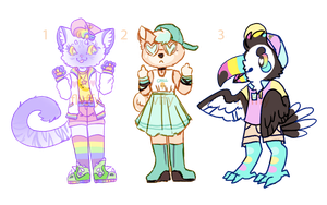 colorful adopts | OTA | CLOSED by flvffy