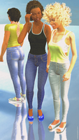 Skinny ladies in jeans and bare arms... by niauropsaka
