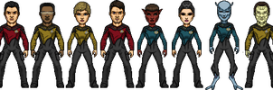 Star Trek Castaways Enterprise-D Crew 2364 by SpiderTrekfan616