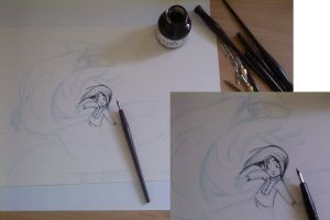 Inking Process by jbsdesigns