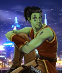 Jedi Knight on Nar Shaddaa by issuesmissflight