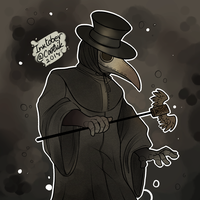 Ink/Goretober Day #5 - Plague Doctor by Cootsik