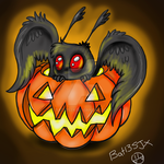 Chibi Halloween Mothman by Bat13SJx