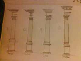 classical greek columns by invictuzz688
