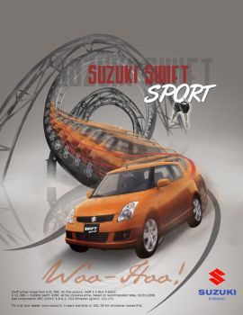 Ad 1: suzuki swift ad by hsadda