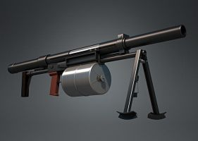 TKB-0249 Crossbow Grenade Launcher (hi-poly) by Kutejnikov