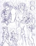 Valentines Sketch Page G1 Lynx and Coma Berenices by nickyflamingo