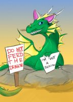 Do Not Feed the Dragons by WinterBlueArt