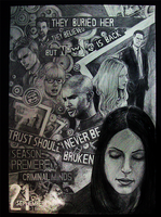 Season 7 Pencil Poster by NastyLady