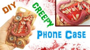 CREEPY PHONE CASE for Halloween by NerdEcrafter