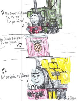 Pizza Delivery: Skarloey Railway Style by EndlessWire94