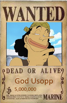 Usopp wanted poster by chile3456