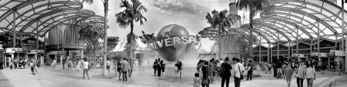 The Entrance of Universal Studios Singapore by coldfingers