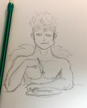 Eustass Kid Sketch by Billie-phoebe