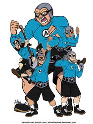 Aquabats, LET'S GO! by AdriOfTheDead