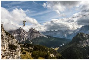 Dolomites slacklining by JamesRushforth
