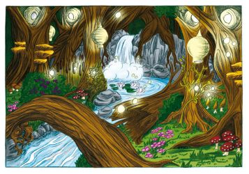 The Fairy Forest (Coloration) by Meajy