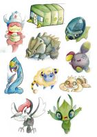 Misc Pokemon Watercolor Practise 07