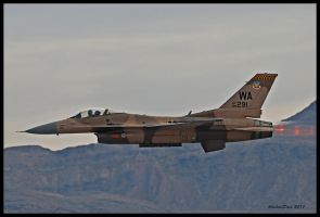 Aggressor F-16 by AirshowDave