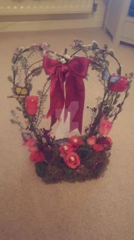 Valentines flower arrangement by Yurigirl4eva