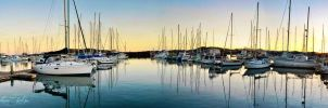 Coffs Harbour Marina Panorama by AwakenendByDreams