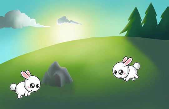 Jumping Rabbit for xwidget by Jimking