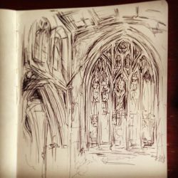 London Southwark Cathedral Sketch by artsyfartsyness