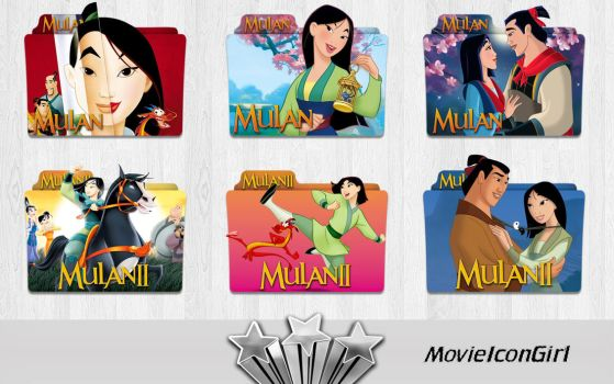 Mulan Collection Folder Icon Pack by MovieIconGirl