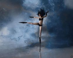 Freedom accomplished through dancing in the storm by EL-LY