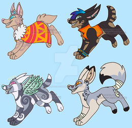 Barking Mad Adopt Batch [OPEN] by CartoonyCanine