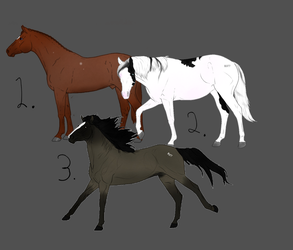 Horse Adopts 2 (All Sold) by NorthernMyth
